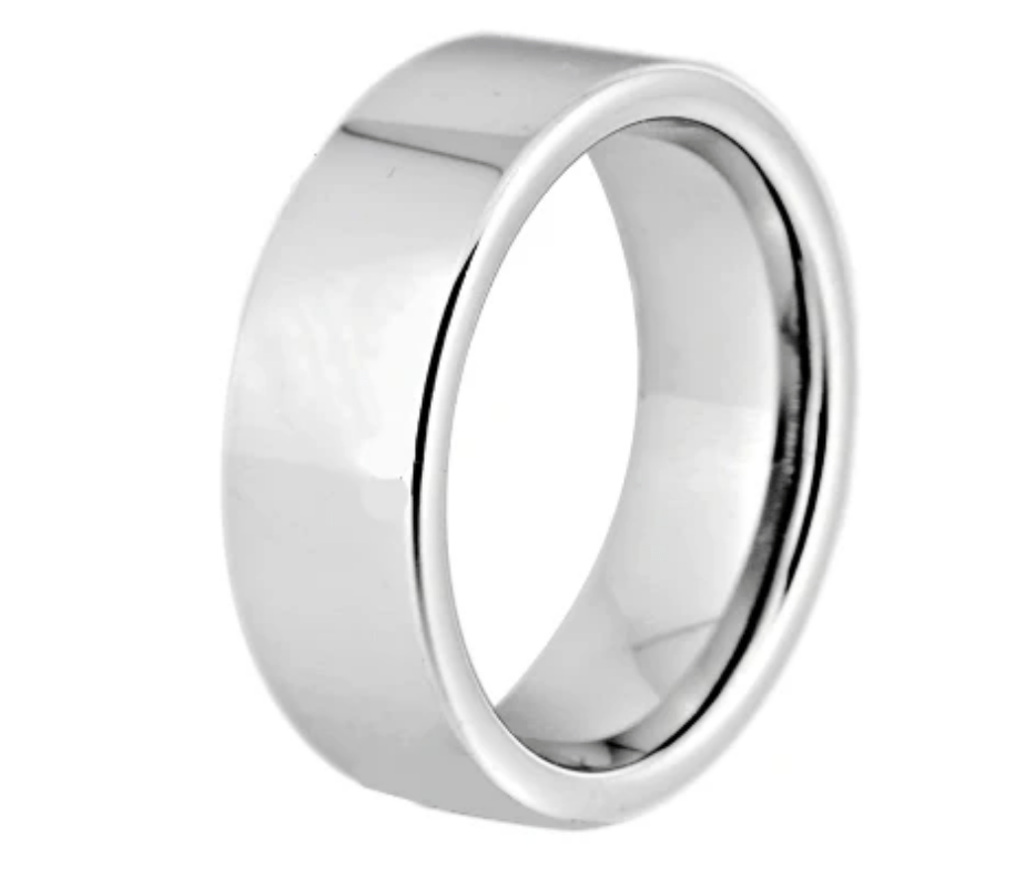 Tungsten Silver Wedding  Engagement Ring