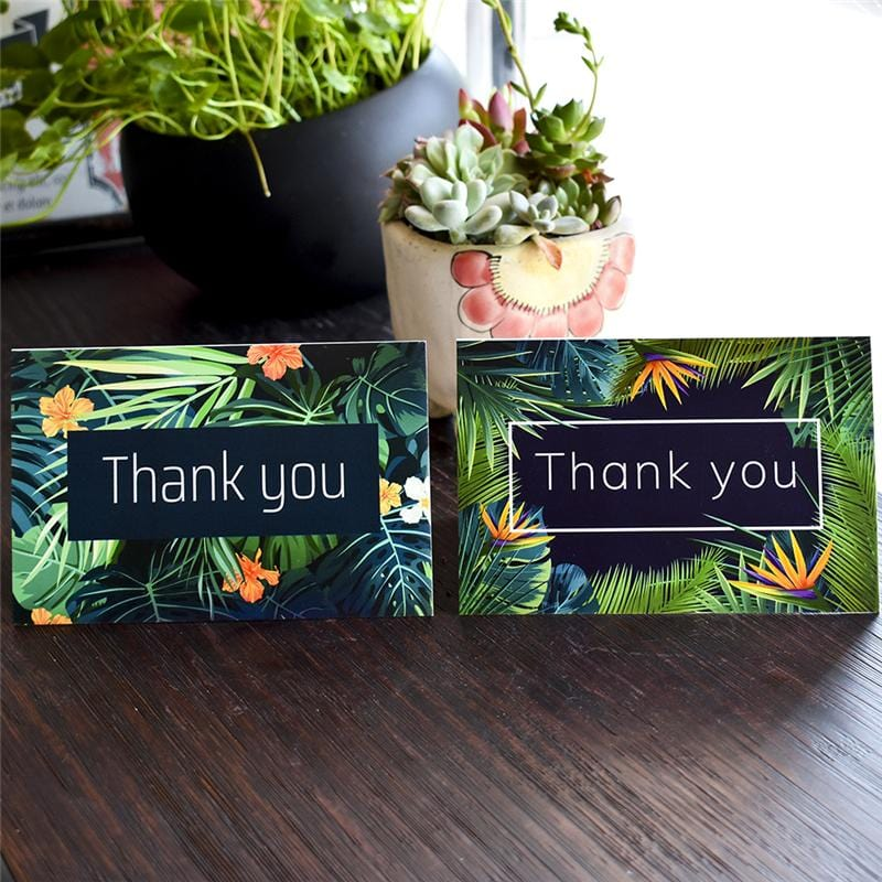 6 PC Thank You  Greeting Cards Set