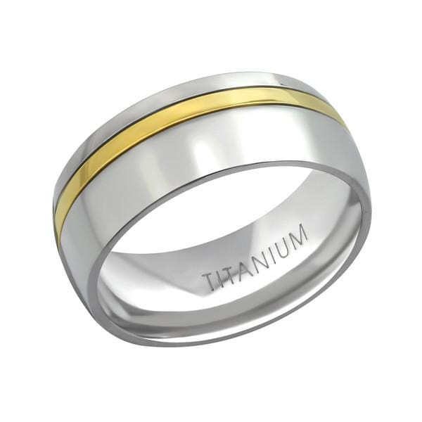 Titanium Gold Line wedding  Ring