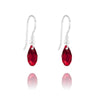 Siam Swarovski Crystal Teardrop Earrings