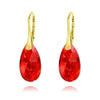 24K Gold Light Siam Pear Earrings