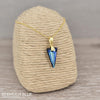 24K   Silver  Gold  Blue Pendant Necklace with Swarovski Crystal