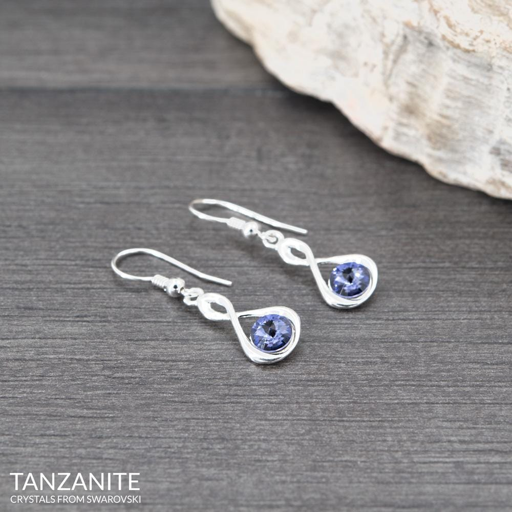 Silver Tanzanite Earrings
