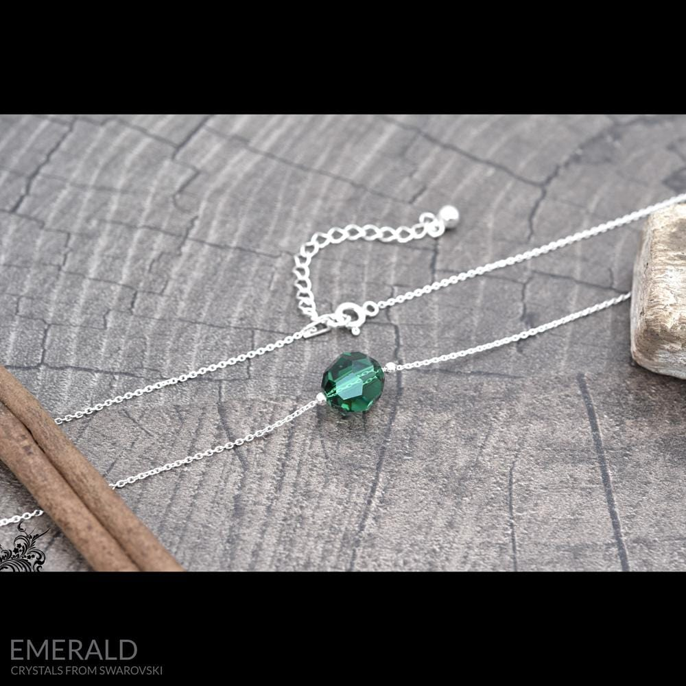 Silver And Emerald Jewellery Set