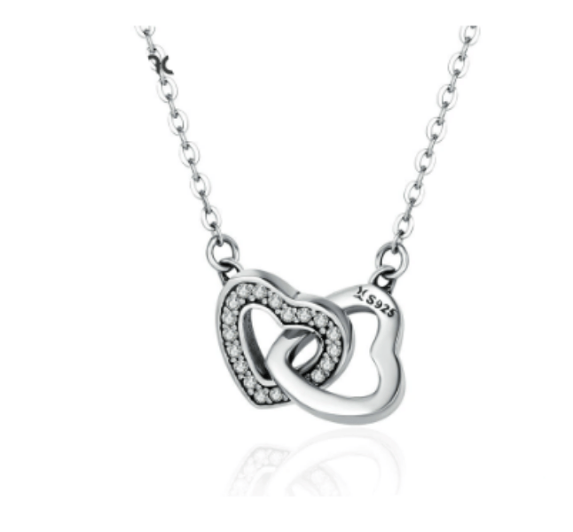 Silver Intertwined Heart Pendant
