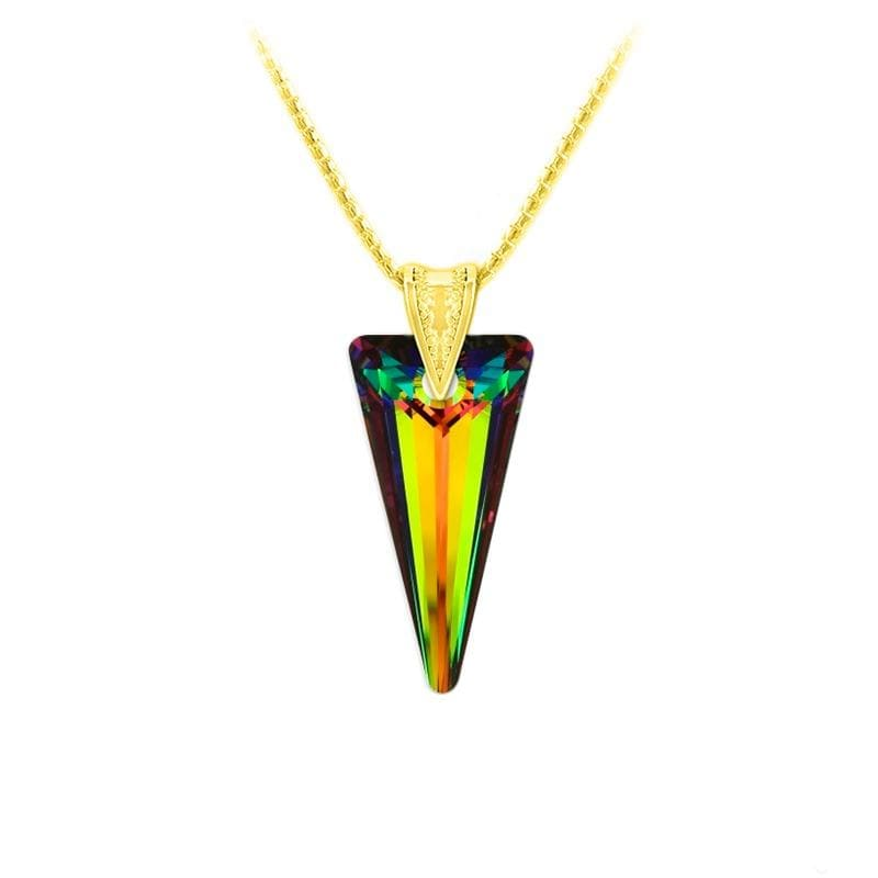 24K Gold  Pendant Necklace Jewellery Set Vitrail Medium