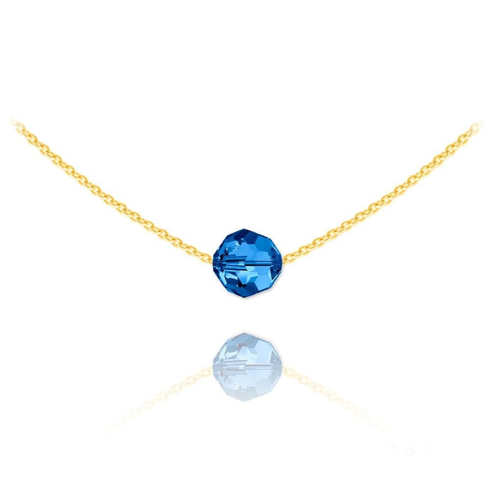 24K Gold Capri Blue Choker Necklace