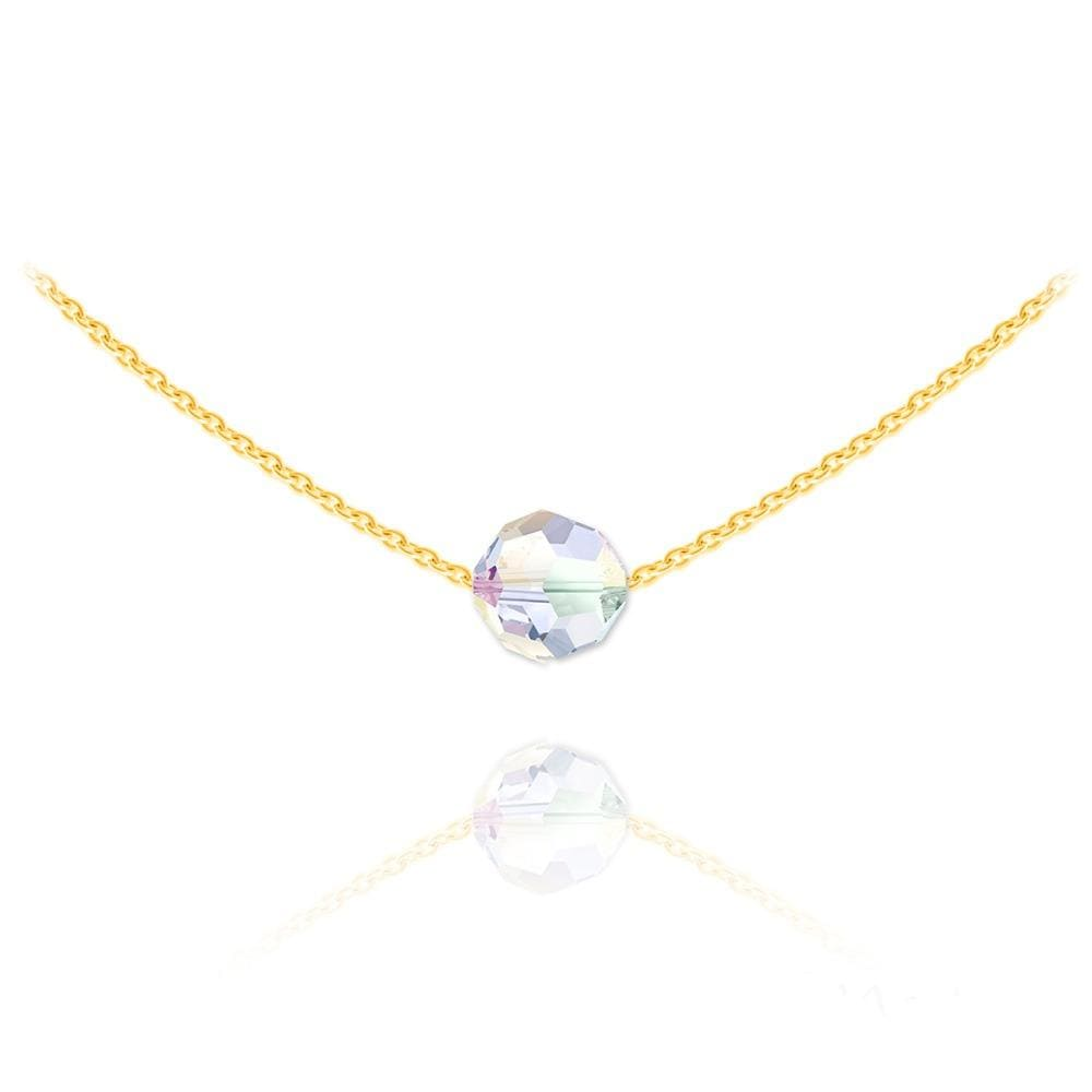 24K  Gold  Choker Necklace with Swarovski Crystal
