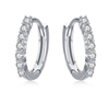 Silver Circle Round Hoop Earrings