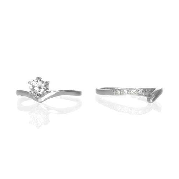 Crystal Wedding Ring Set