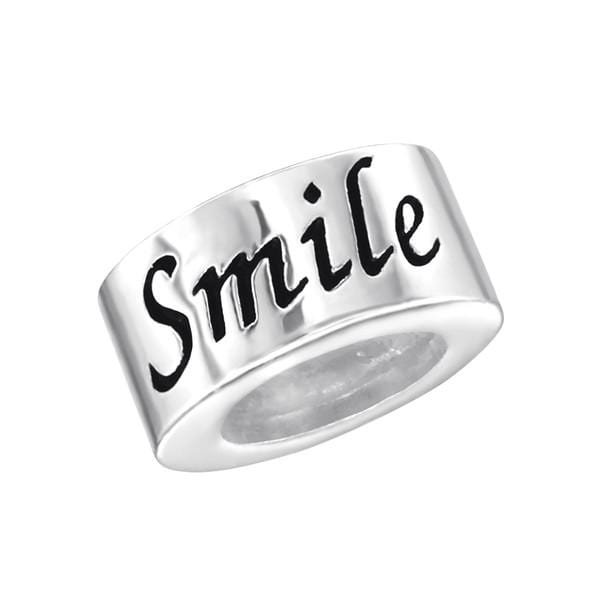 Silver Smile Charm Bead