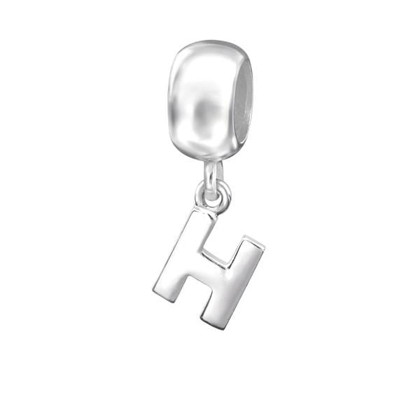 "Silver Hanging ""H"" Charm Bead"