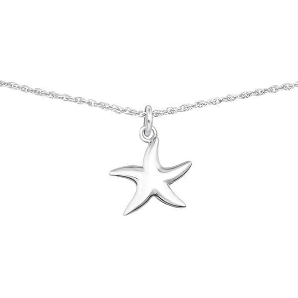Silver Starfish Choker Necklace