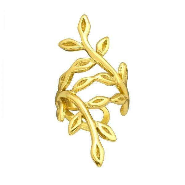 Gold Branch Ear Cuff