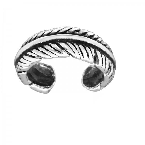 Silver Feather Ear Cuff