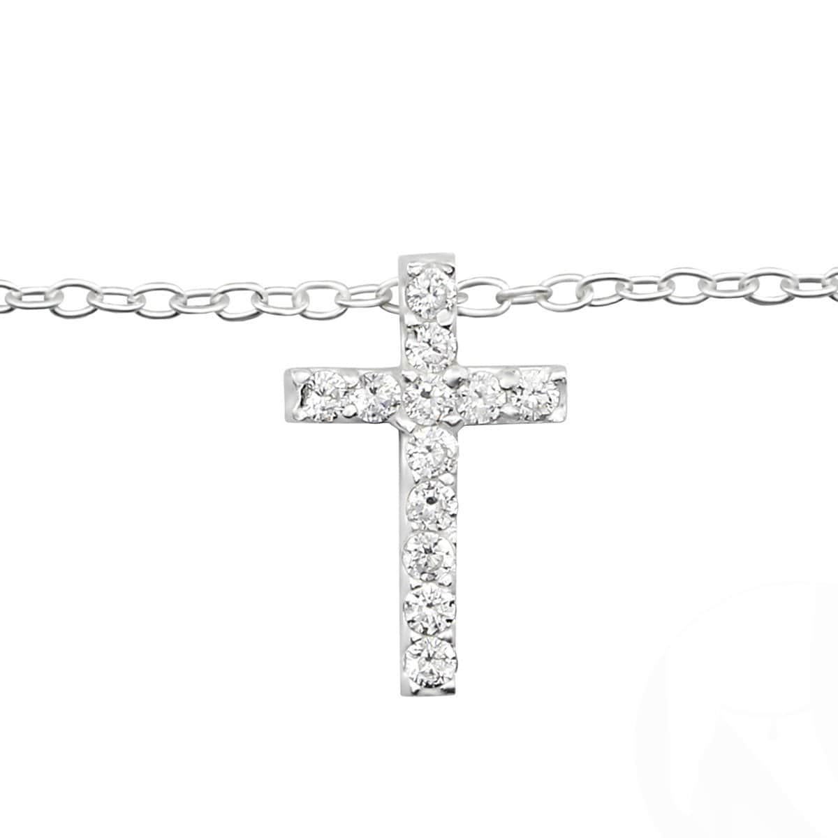 Sterling Silver Cross Anklet