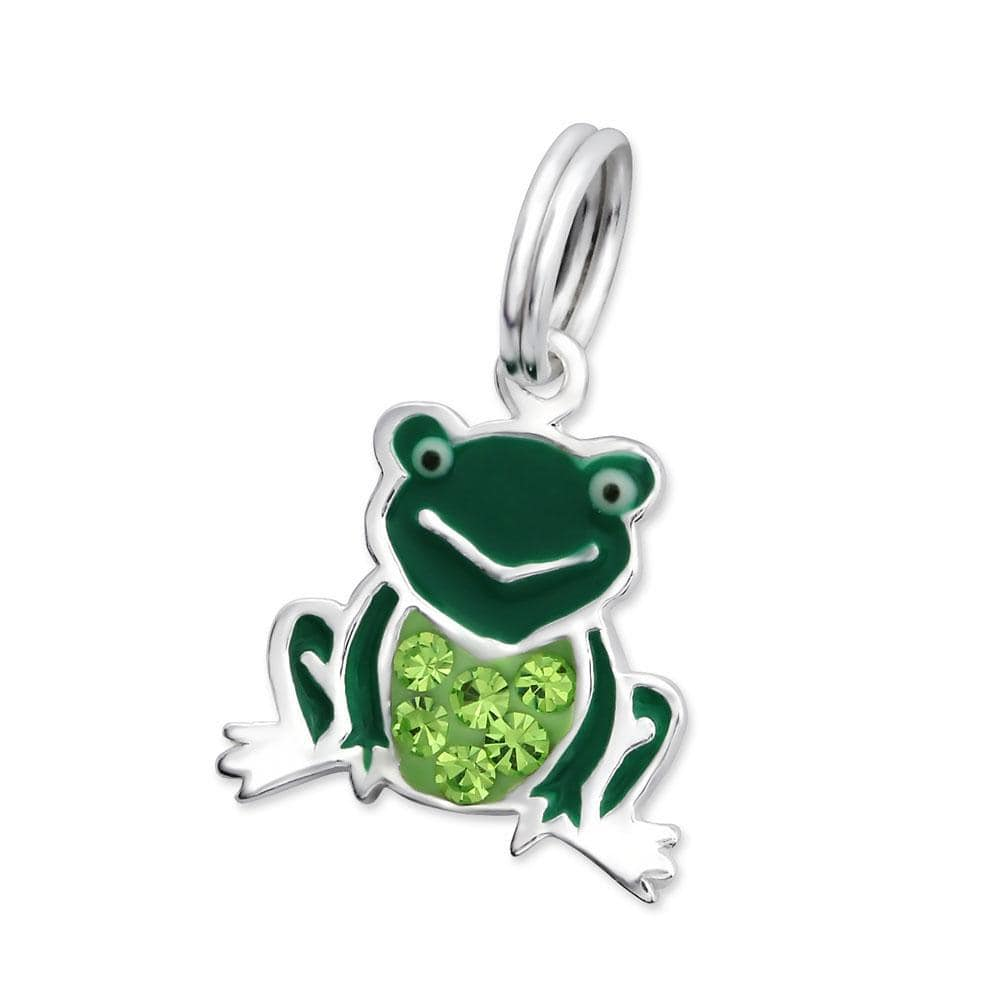 Sterling Silver Frog Charm with Split ring