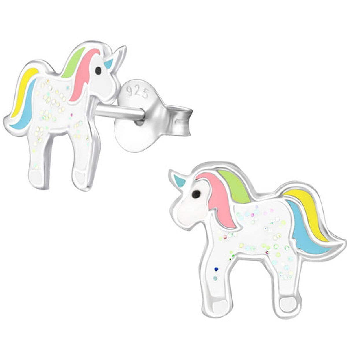 Sterling Silver Unicorn Kids Ear Studs