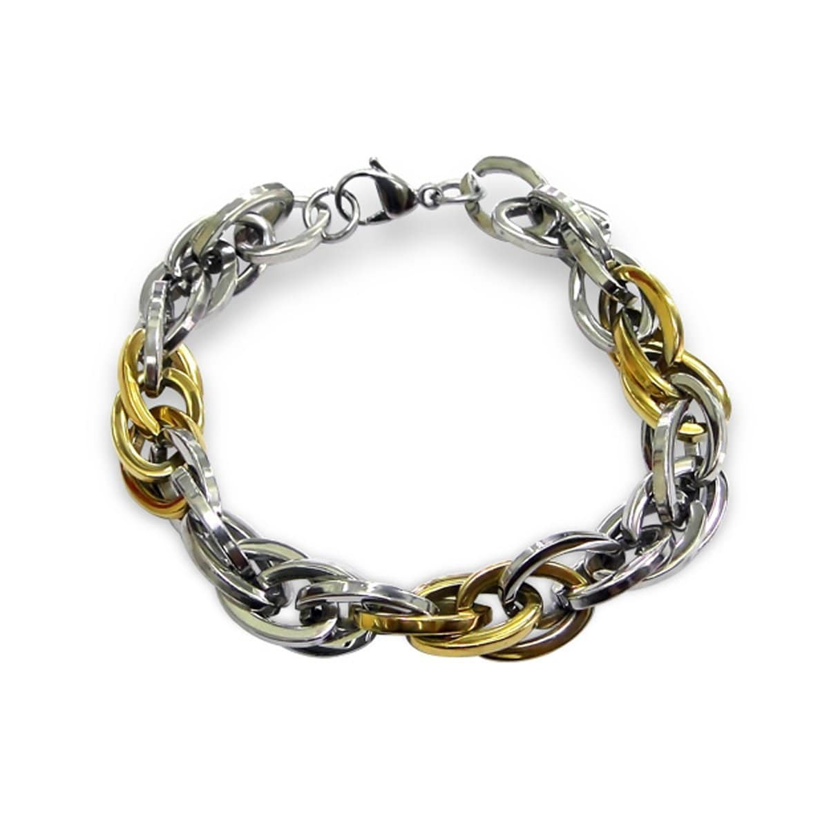 22 CM Mens Stainless Steel Chain Bracelet