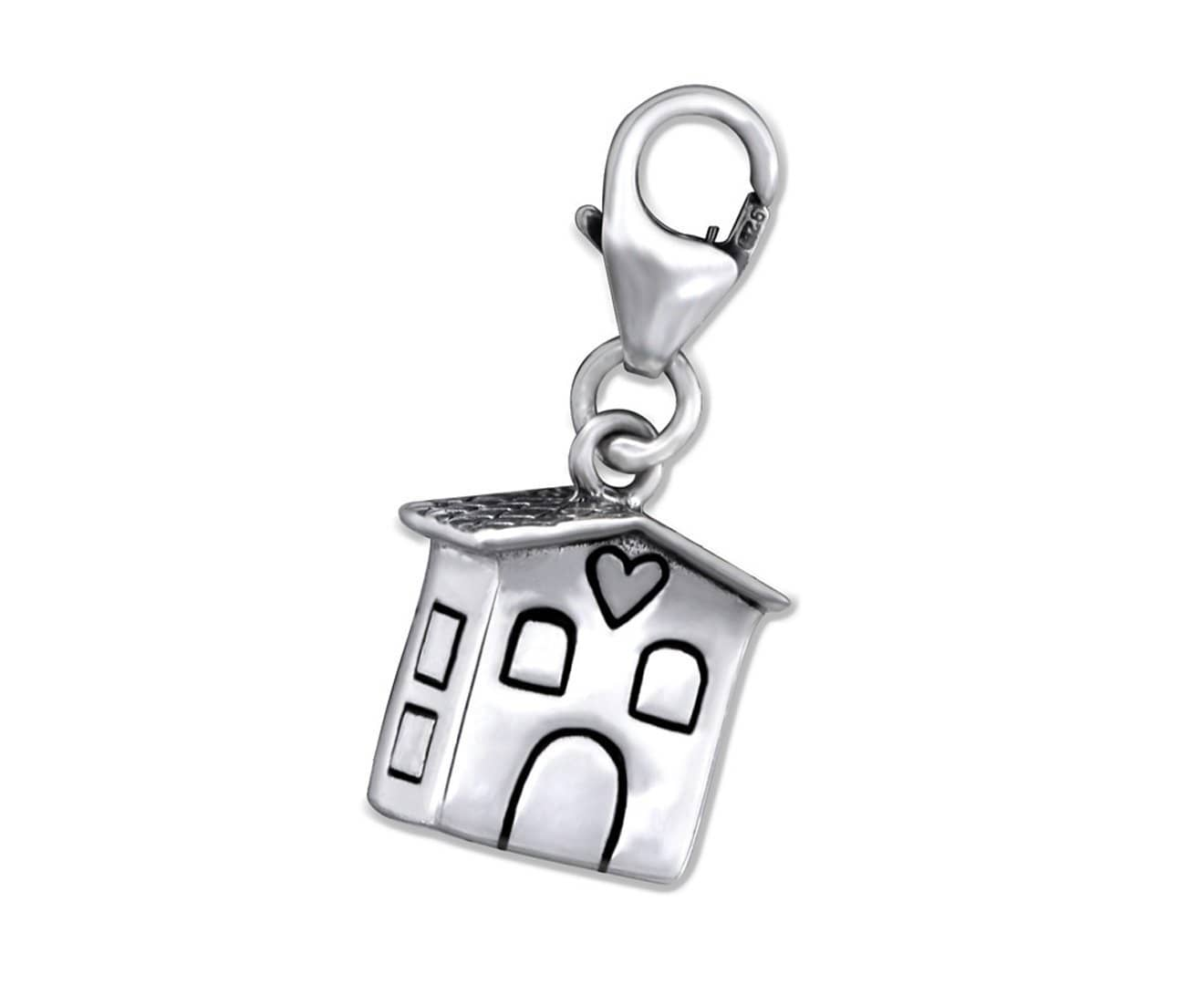 Sterling Silver Home Clip on Charm