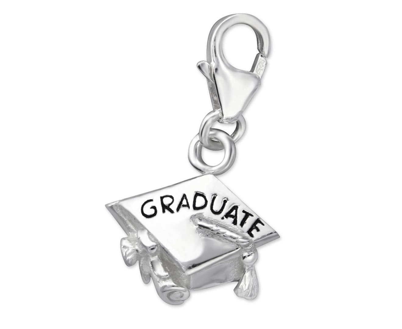 Sterling Silver Graduate Clip on Charm