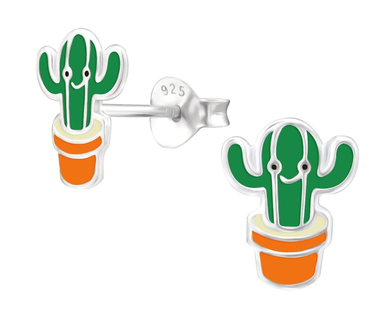 Kids Silver Cactus earrings