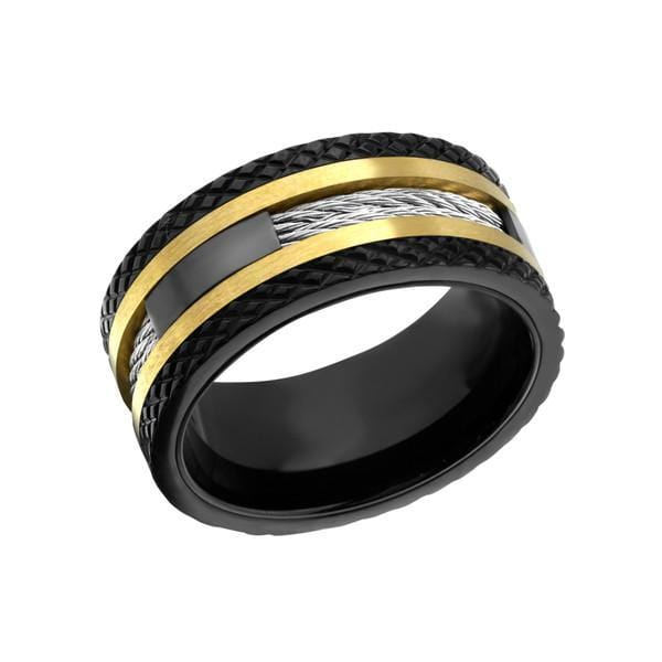 Black Gold Stainless Steel Wire Ring