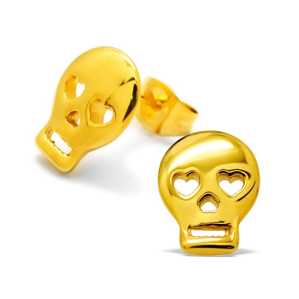 Surgical Steel Gold Plated Stud Earrings