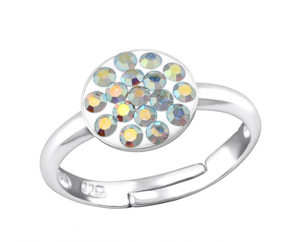 Children's Circular Crystal Studded Ring