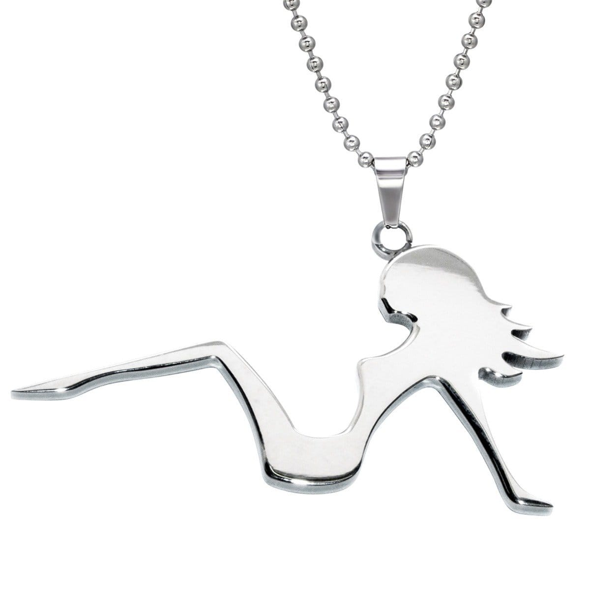 Stainless Steel Girl Sexy Pendant Necklace