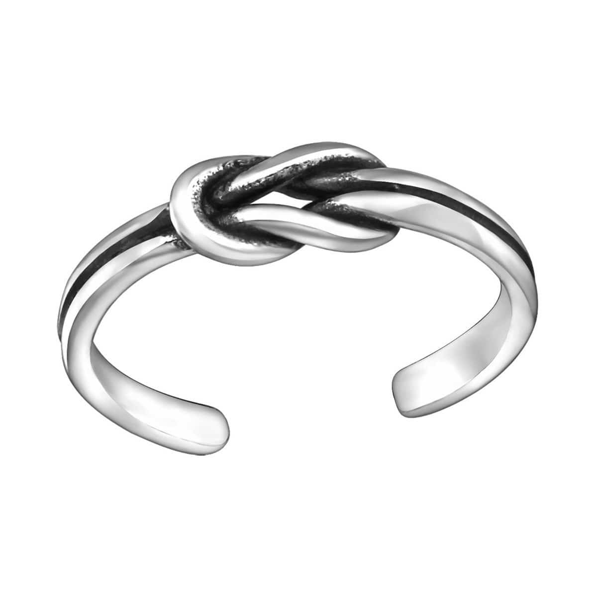 Sterling Silver Oxidised Knot Toe Ring