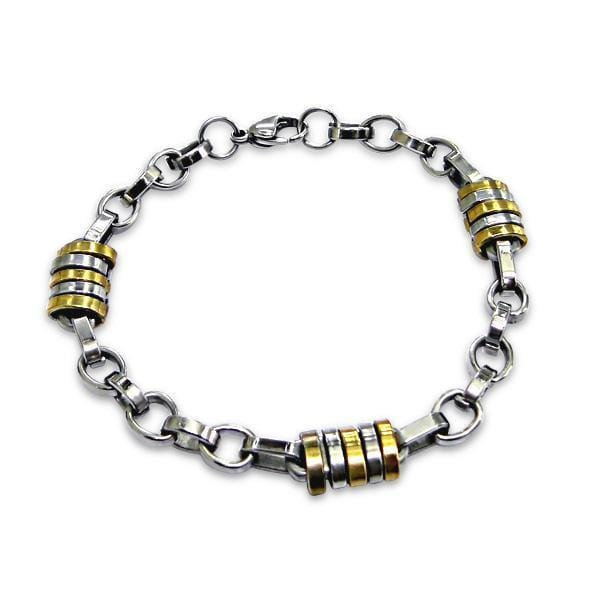 Men's Elegant Stainless Steel Bracelet 22 CM