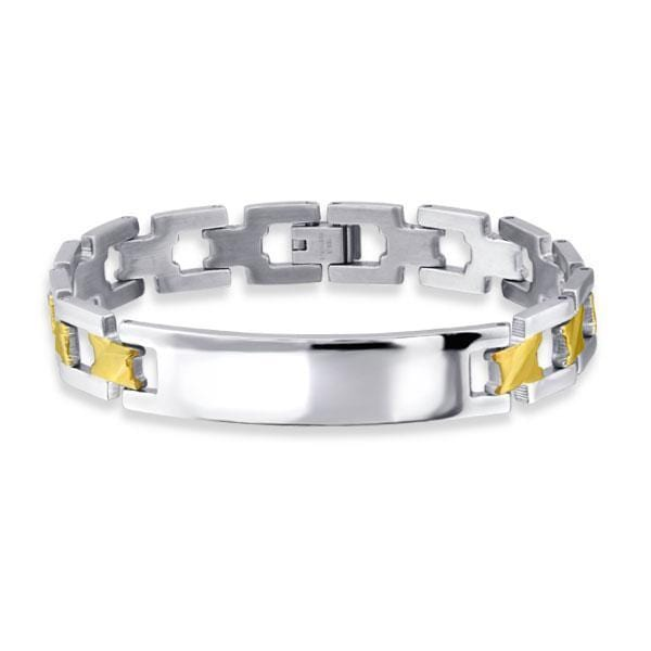 High Quality Mens Stainless Steel Bracelet 21 CM