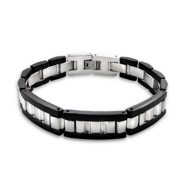 Two Tone Men's 22 CM Steel Bracelet