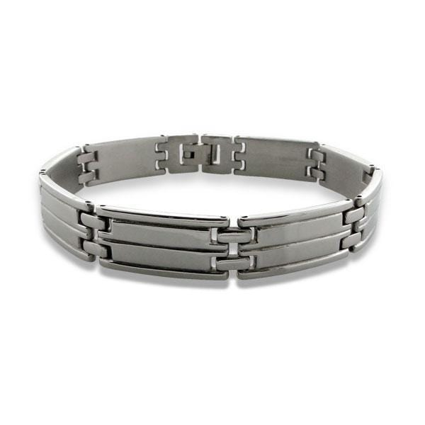 Surgical Steel Men's Link Bracelet 22 CM