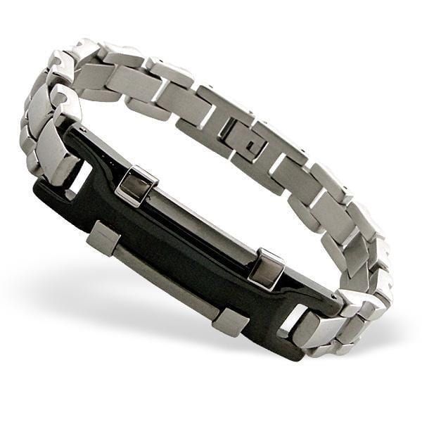 Mens Stainless Steel Cuff Bangle Bracelet