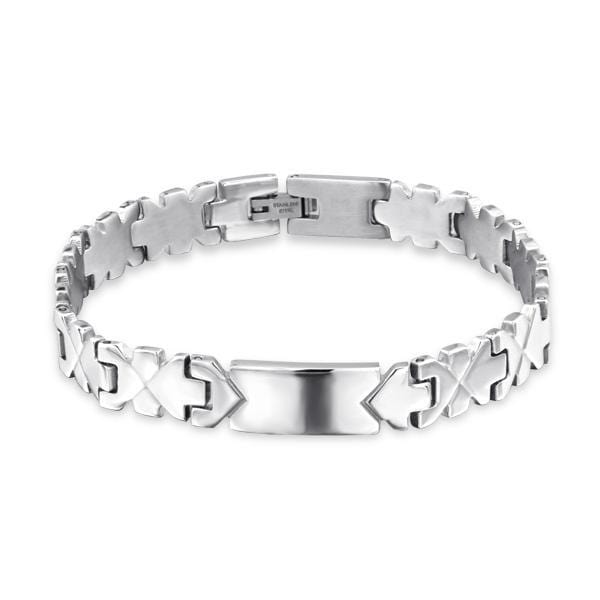 Stainless Steel 22 cm Cuff Bangle Bracelet