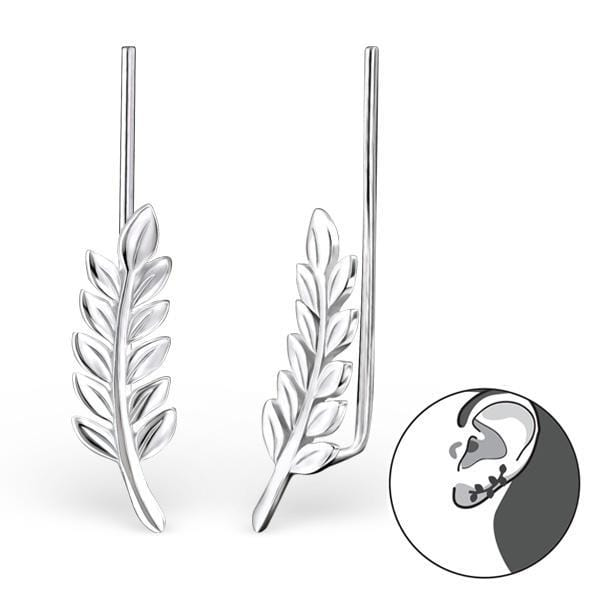 Silver Waves Long Ear Cuff wrap