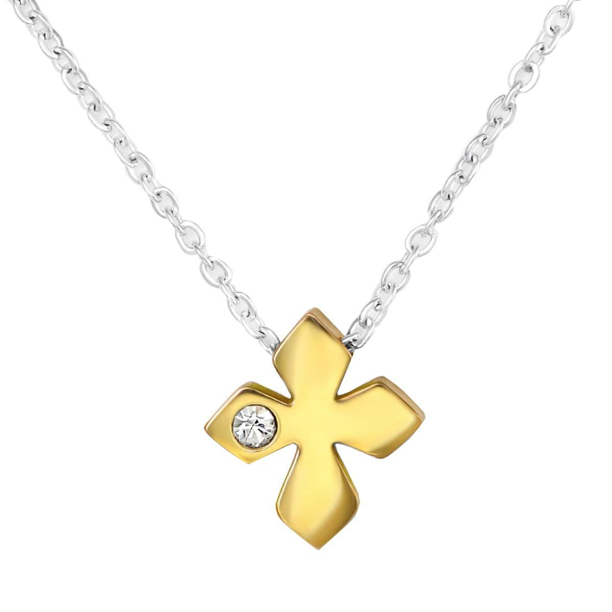 Surgical Steel Cross with Crystal Jewellery Set