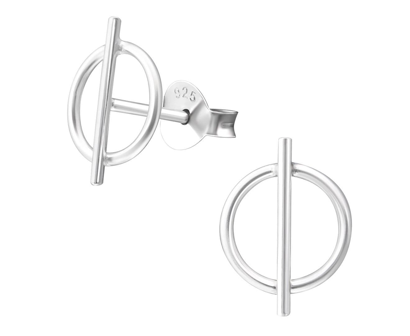 Sterling Silver Geometric Ear Studs