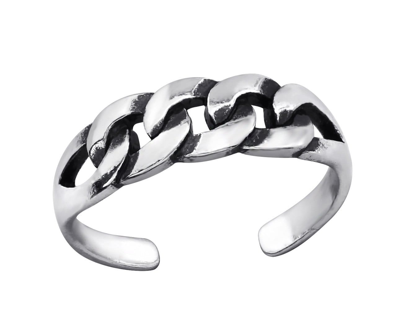 Sterling Silver Patterned Toe Ring