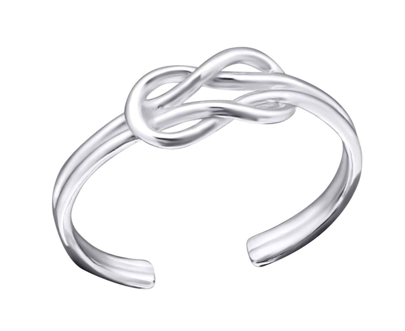Sterling Silver Knot Toe Ring