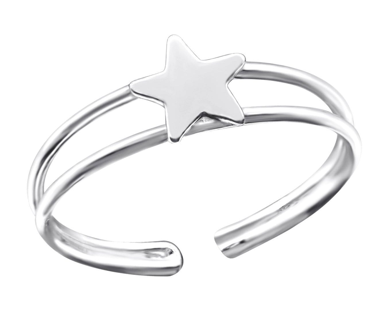 Sterling Silver Star Toe Ring