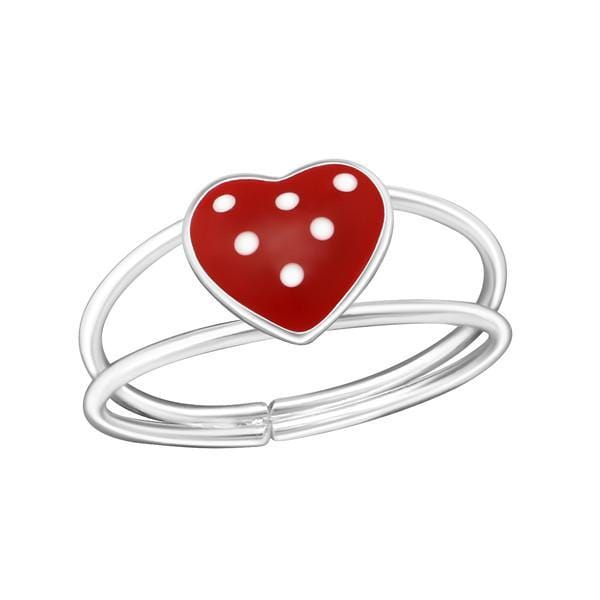 Kids Silver Heart Ring