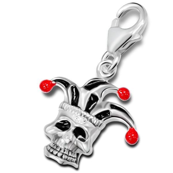 Sterling Silver Skull Charm With Lobster Clasp