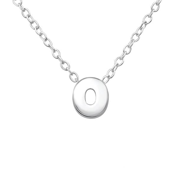 Silver Letter O Necklace