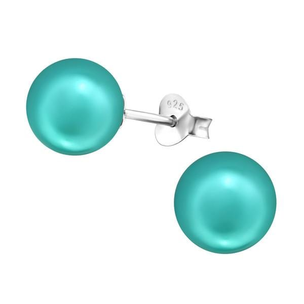 Sterling Silver Pearl Ear Studs Earrings