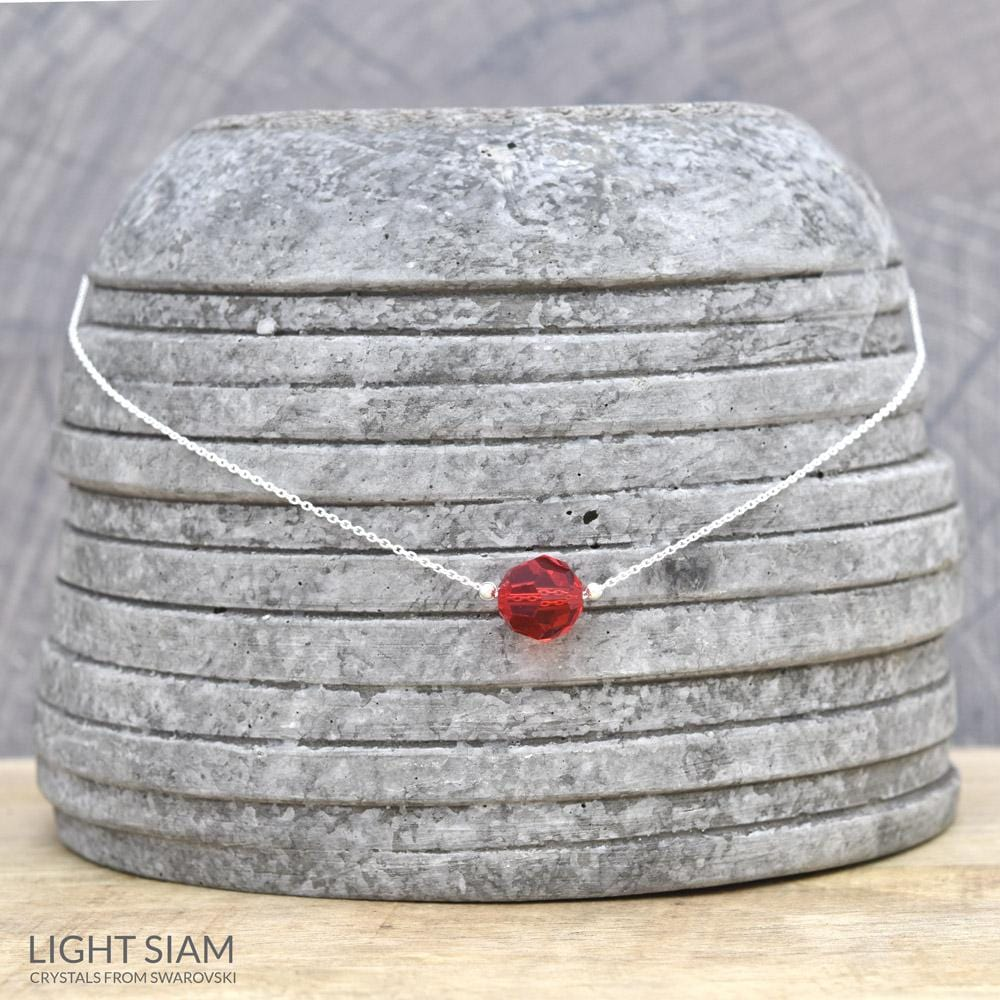Light Siam Silver Choker