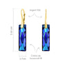 24K Bermuda Blue  Luxury   Pendant Necklace Jewellery Set