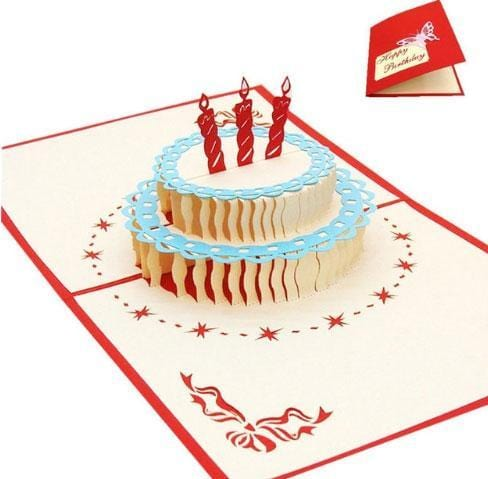 3D Pop Up Happy Birthday Greeting Card